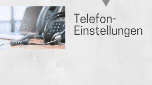 Telekommunikationseinstellungen
