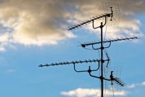 Abbau der alten Antenne