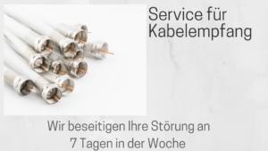 Service für Kabelfernsehen