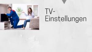 Fernseheinstellung